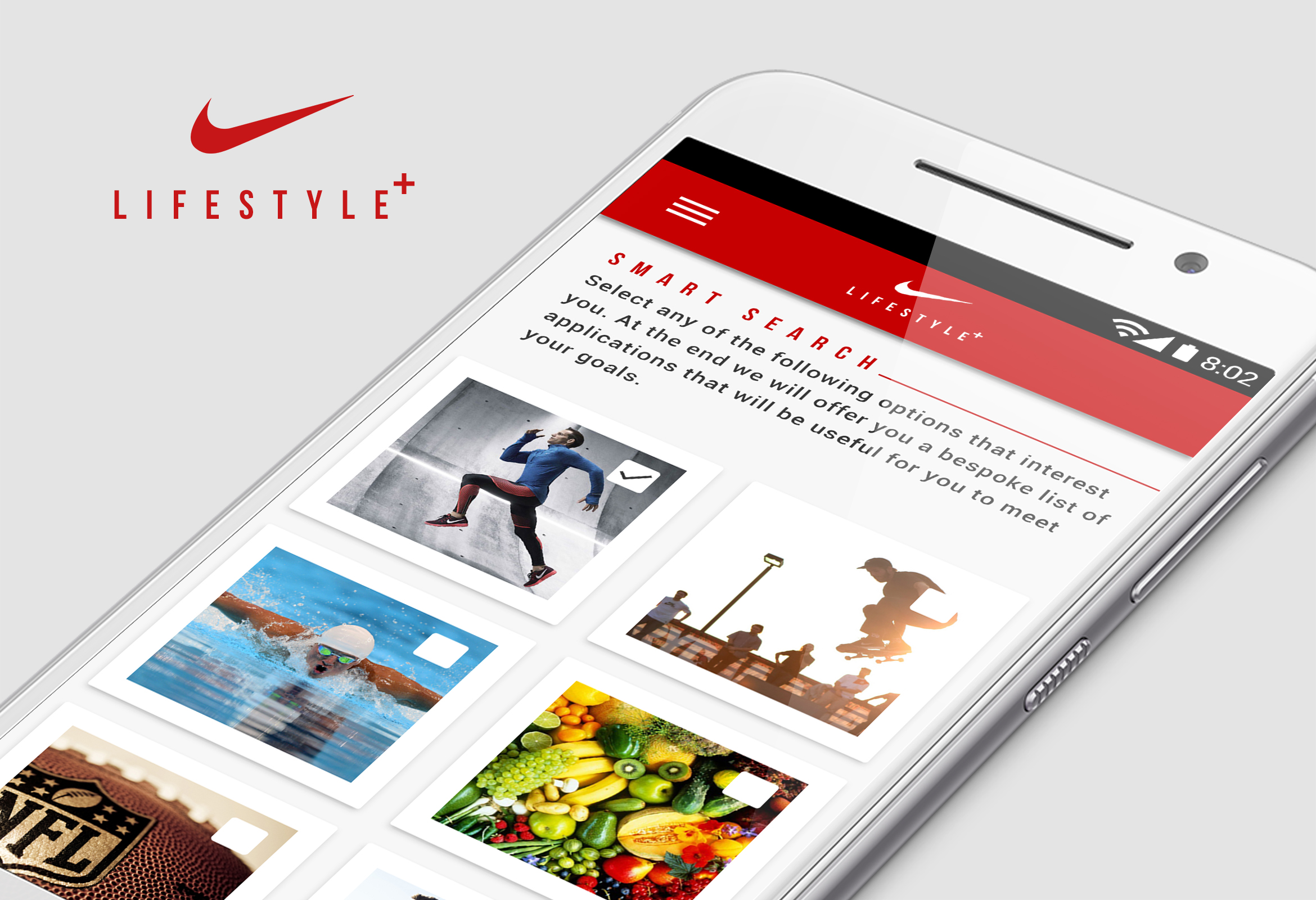 Nike (personal project) - Android App store Design concept